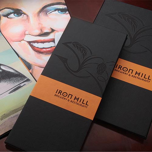 Iron Hill Menu Covers