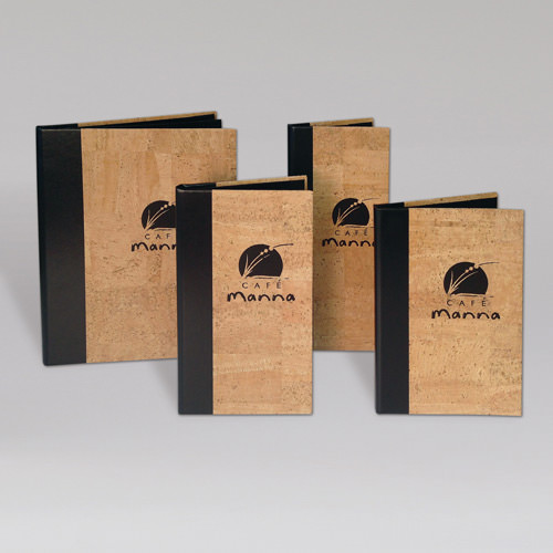 Authentic Cork and Faux Leather Menu Covers