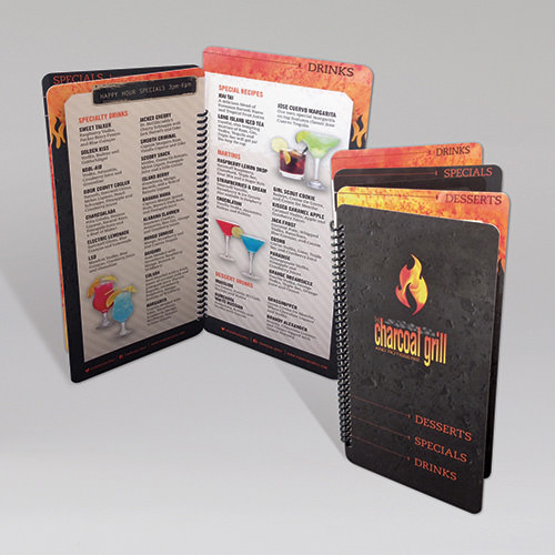Printed Menu on Synthetic Substrate and Laminated
