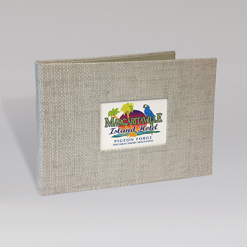 Faux Organic Guest Directory Binder with Printed Window Insert