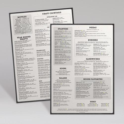 Menu design ideas portfolio for Lynnhaven fish house menu