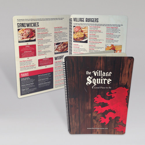 Village Squire Menus