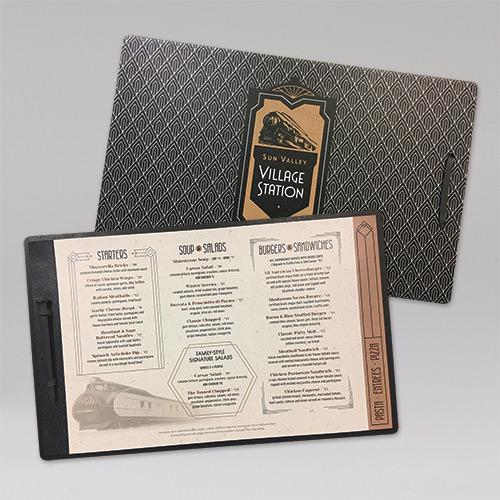 sun valley village station menu clipboard - Menu Design Ideas