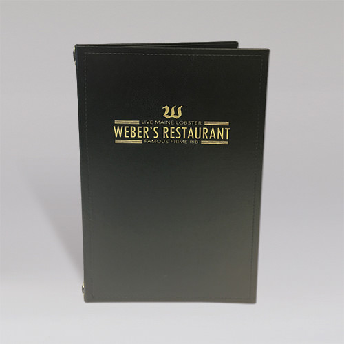 Weber's Restaurant - Main Menu Cover - Front