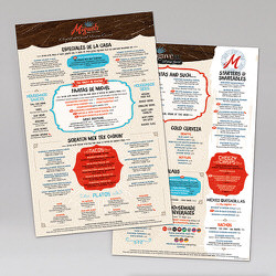 Miguel's Mex Tex Cafe Dinner Laminated Synthetic Menu