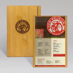 New Belgium Wood Board Cover and Insert