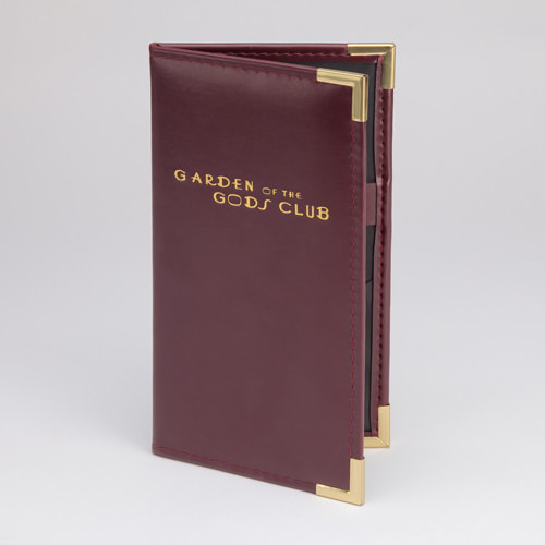Club Guest Check Presenter with Padding Option - FRONT