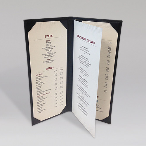 Menu Folders | Delmar Slim Menu Cover