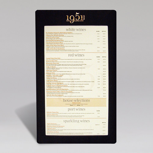 1951 Full Frame Menu Cover