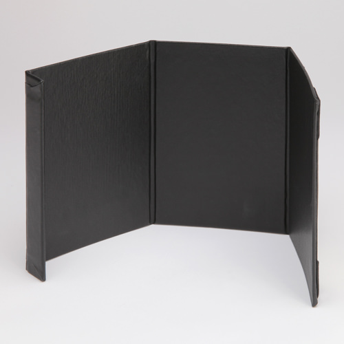 Three-Sided Table Stand - Magnetic Edge Closure Shown Open